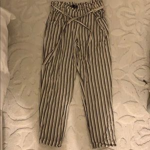 ZARA PAPER-BAG PANTS